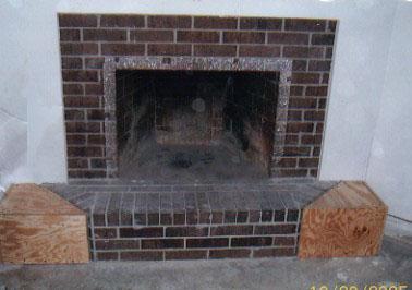 dwnixon cover a brick fireplace